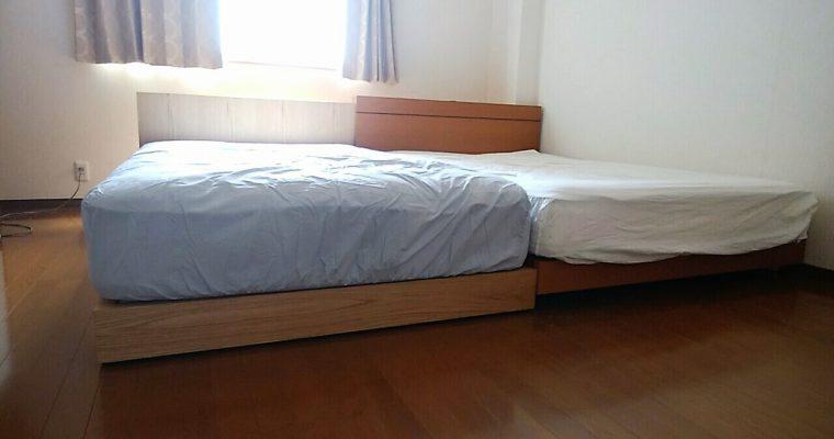 【納品事例⑩】2台のベッドをくっつけて置くときに、基本だけど、もっとも大切なこと。